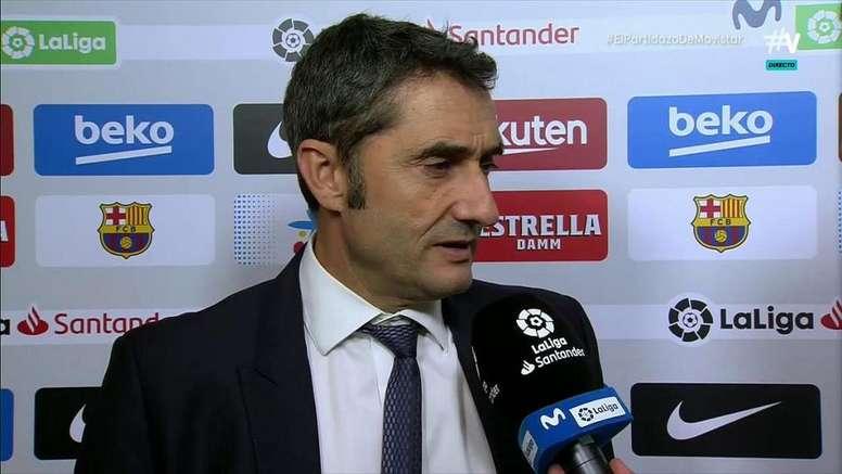 Valverde abordó la expulsión de Dembélé. Captura/Movistar+
