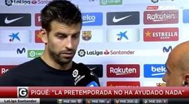 Pique defends Suarez. Captura/GolTV