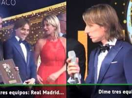 Modric put himself in an awkward situation. Captura/ASTV