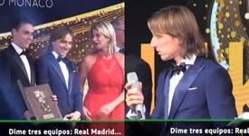 Modric não duvidou em responder as perguntas. Captura/ASTV