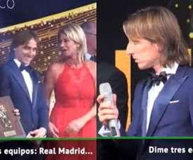 Modric put himself in an awkward situation. Captura/ASTV