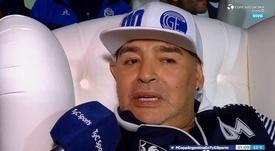 Maradona habló sobre el papel de Messi en Nápoles. Captura/ESPN