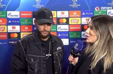 Neymar abordó el polémico debate sobre su relación con Cavani. Captura/EsporteInterativo