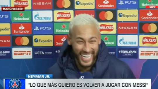 Neymar sonha em jogar com Messi. Captura/ESPN