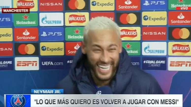 Neymar sorprendió a todos en Old Trafford. Captura/ESPN