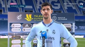 Thibaut Courtois analysed Real Madrid's defeat to Athletic. Screenshot/Movistar+