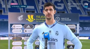 Courtois criticou a arbitragem na semifinal da Supercopa. Captura/Movistar+