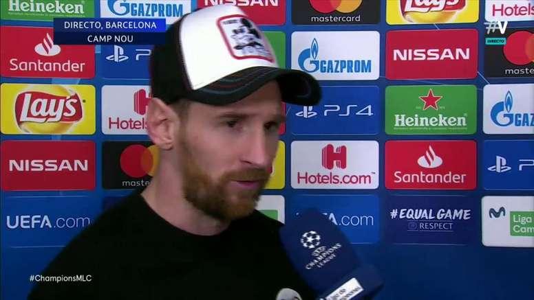 Messi s'est exprimé après la rencontre. Capture/Vamos