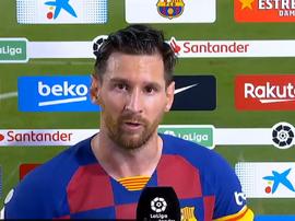 Leo Messi commenta la sconfitta. MovistarLaLiga