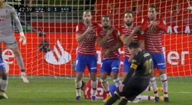 Messi scored a free-kick to make it 0-3. Screenshot/MovistarLaLiga