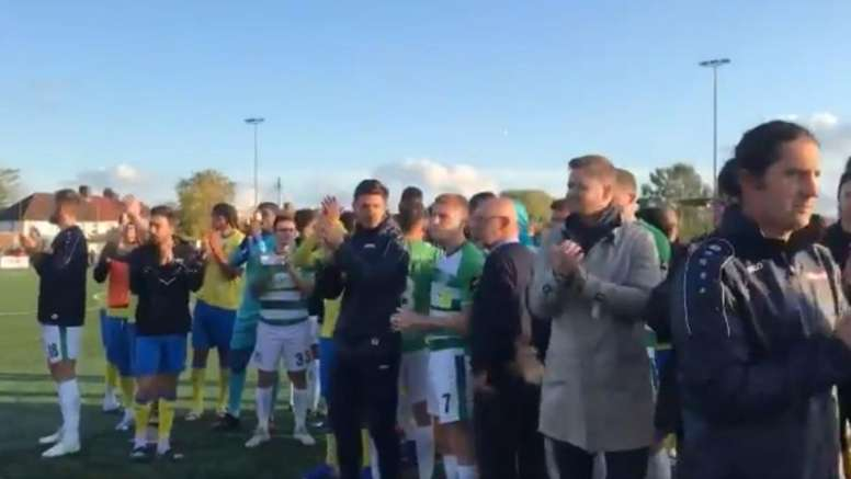 Racism saw the FA Cup tie brought to an early conclusion. Captura/YeovilTown
