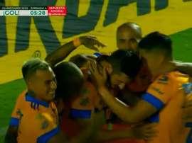 Tigres comenzó fuerte: goles de Gignac y Vargas en tres minutos. Captura/TUDN