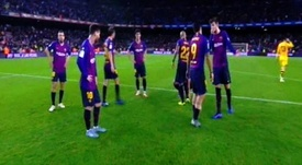 Tension à Barcelone. Capture/Movistar
