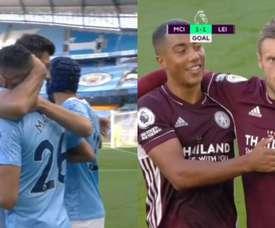 Vardy and Mahrez scored. Screenshot/DAZN
