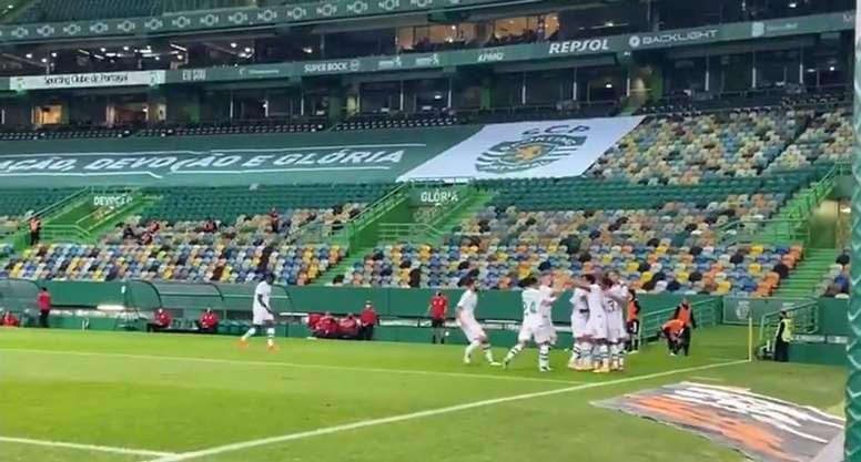 El Lask Linz le saca los colores al Sporting de Portugal. Captura/Sporting_CP
