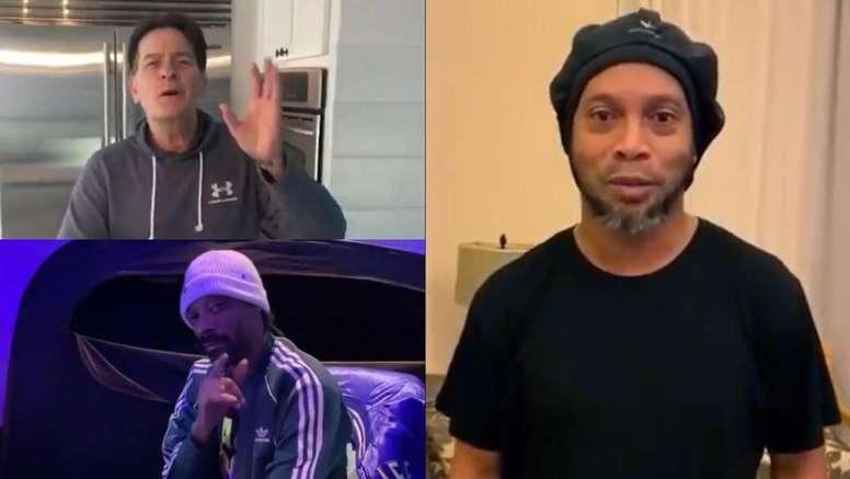 O vídeo que une Maradona, Ronaldinho, Snoop Dogg e Charlie Sheen. Captura/U_D_Almeria