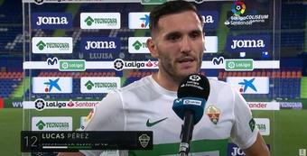 Lucas Pérez podría ser titular ante el Levante. YouTube/LaLiga