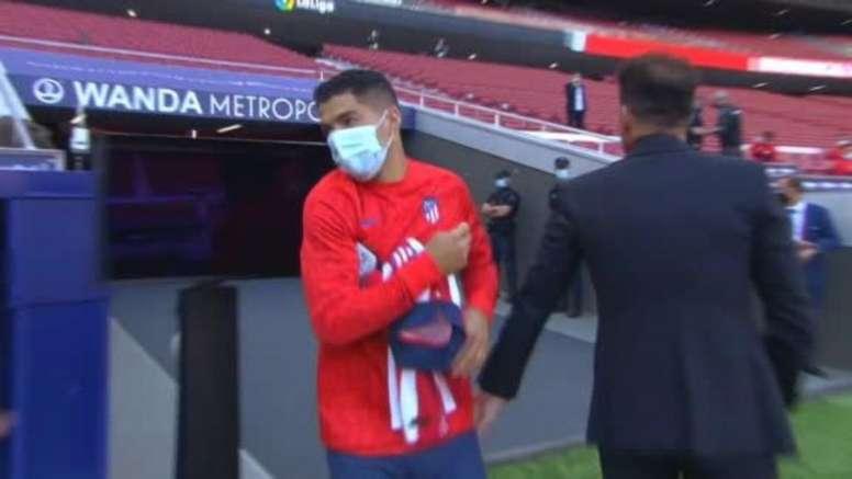 Suárez started on the bench. Screenshot/MovistarLaLiga
