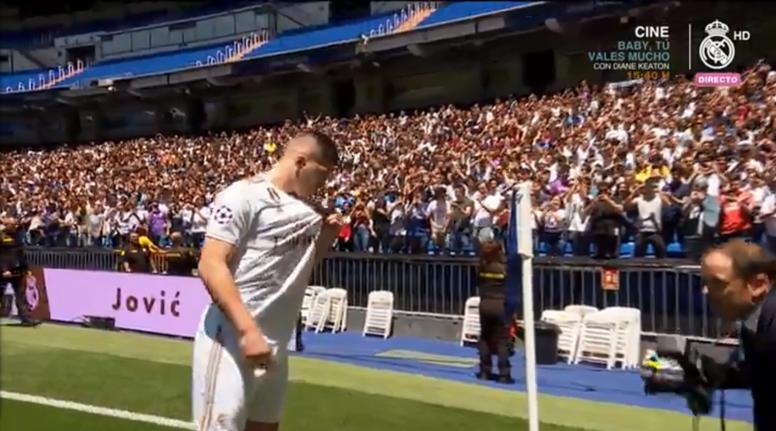 Jovic disparó la ilusión blanca. Captura/RealMadridTV