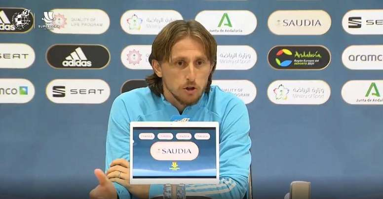 Luka Modric sort du silence sur sa prolongation. Capture/RFEF