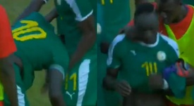 Mané lloró tras la victoria de su Selección ante Guinea Ecuatorial. Captura/RTS