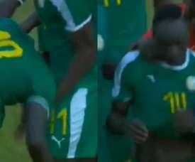 Mané a pleuré après la victoire de sa sélection devant la Guinée Équatoriale. Capture/RTS