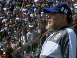 Maradona a eu sa 'DiegoCam' durant son premier match ! Captura/TNTSports