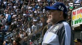 La 'DiegoCam' grabó a Maradona ¡durante los 90 minutos de su debut! Captura/TNTSports