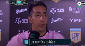Matías Ibáñez, adiós a Racing y posible regreso a Patronato. YouTube/ TNTSportsArgentina