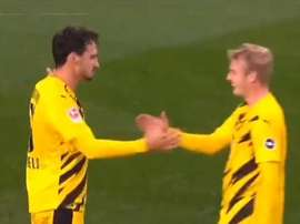 Hummels scored a brace. Screenshot/FOXSports