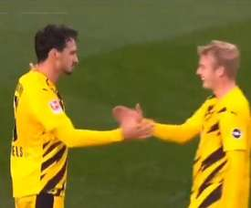 Haaland absent, c'est Hummels qui mène Dortmund à la victoire. Capture/FOXSports