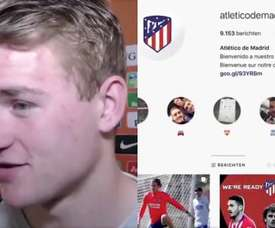 De Ligt seguía al Atlético. Captura/DeLigt/Atlético