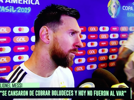 Messi, una furia contro il VAR. Captura/TyCSports