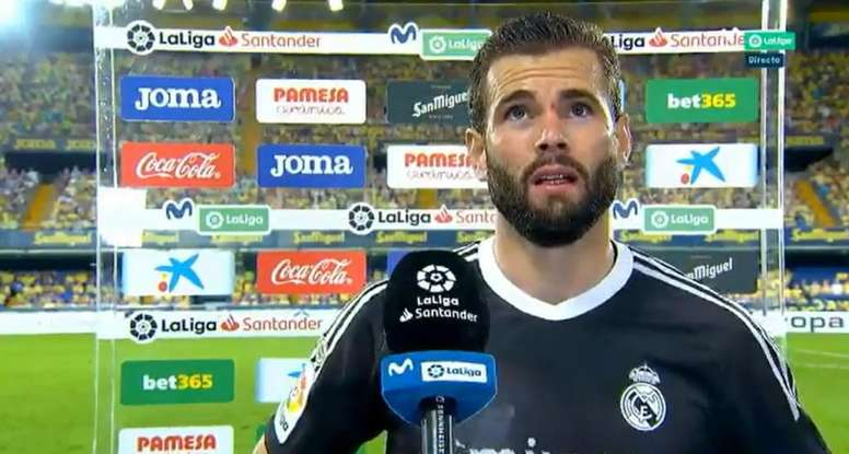 Nacho Fernandez spoke to the press after the clash. Screenshot/MovistarLaLiga