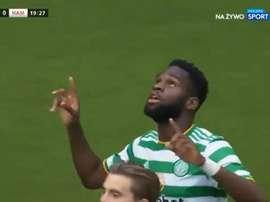 Edouard scored for Celtic. Screenshot/SportExtra