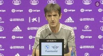 Pacheta avisó de los peligros del Girona a pesar de su mal arranque. Twitter/realvalladolid