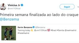 Benzema et Vinícius s'entendent à merveille. Twitter