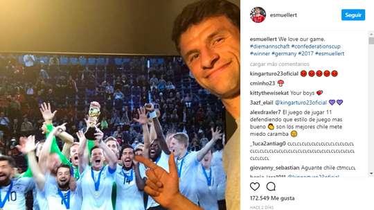 Müller enfadó al 'Rey Arturo' con su publicación. Instagram/esmuellert