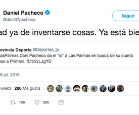 Dani Pacheco a mis fin aux rumeurs. Twitter/Dani37Pacheco