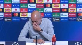 Guardiola lució un reloj de 930.000 euros. Captura/Movistar