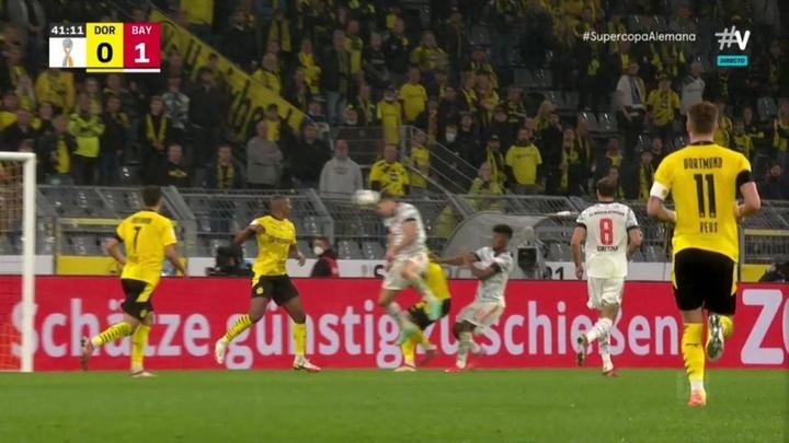 Lewandowski puso el 0-1. Captura/Vamos