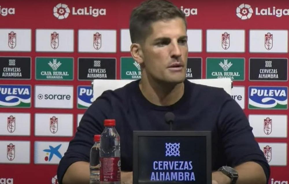 Robert Moreno habló tras la derrota del Granada ante el Betis. Youtube/GranadaCF