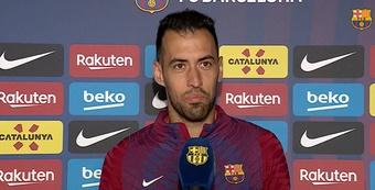Xavi, le nouveau professeur de Busquets. Twitter/FCBarcelona_es
