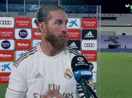 Ramos committed his whole career to Real Madrid after the match. Captura/MovistarLaLiga