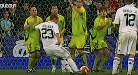 La colección de golazos y mejores jugadas de Sneijder en el Madrid. Captura/Dugout