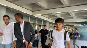 Kubo has landed in Mallorca to join them on loan. Captura/RadioEstadio