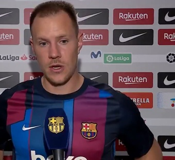 Ter Stegen habló tras el empate ante el Granada. Twitter/FCBarcelona