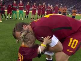 Totti won with As Roma the last match of his career.Twitter