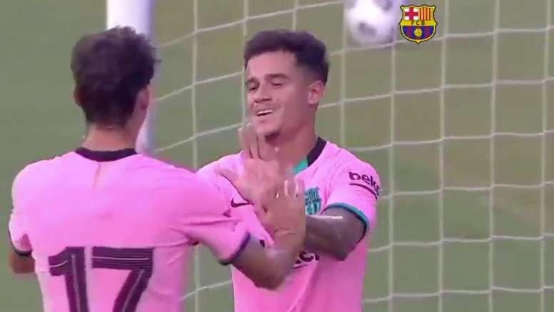 El diseño de la camiseta del Barça se hizo viral. Captura/BarçaTV+