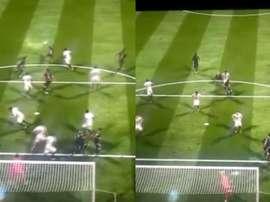 Un jugador de FIFA mejora el 'Iniestazo' y 'echa' a su rival del partido. Captura/MarcaTV